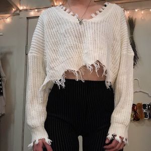 Loose ripped sweater (NWT)
